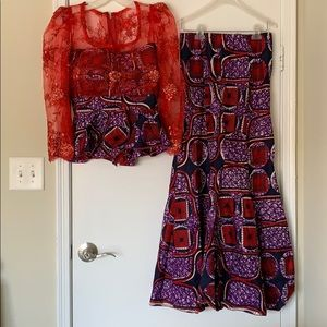African Kente two piece outfit